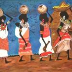 Donne d'africa senza cornice
