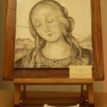 Madonna monicolore seppia