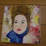 """dipinto su tela """"donna"""""""