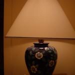 lampada blu e bianca