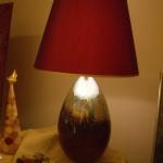 lampada bordeaux e oro