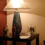 lampada turchese e oro