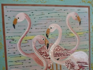 flamingoes detail